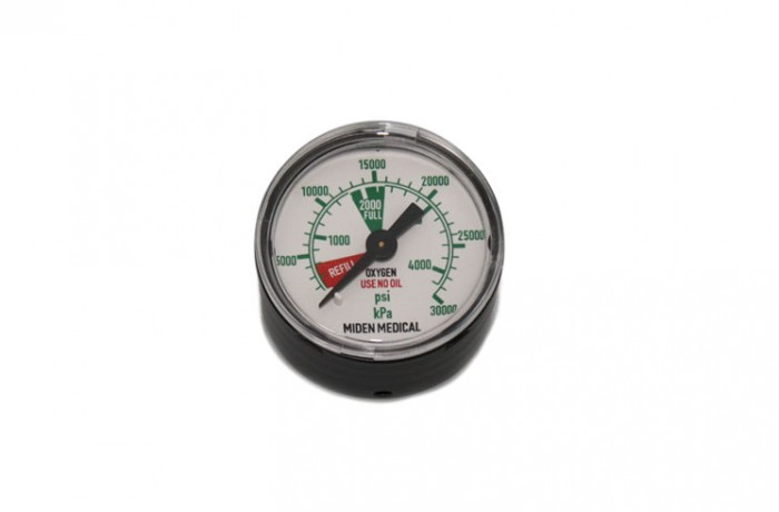 50 mm Oxygen pressure gauge