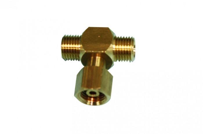 1/4 BSPF X 1/4 BSPF Male X 1/4 BSPF nut T-Piece