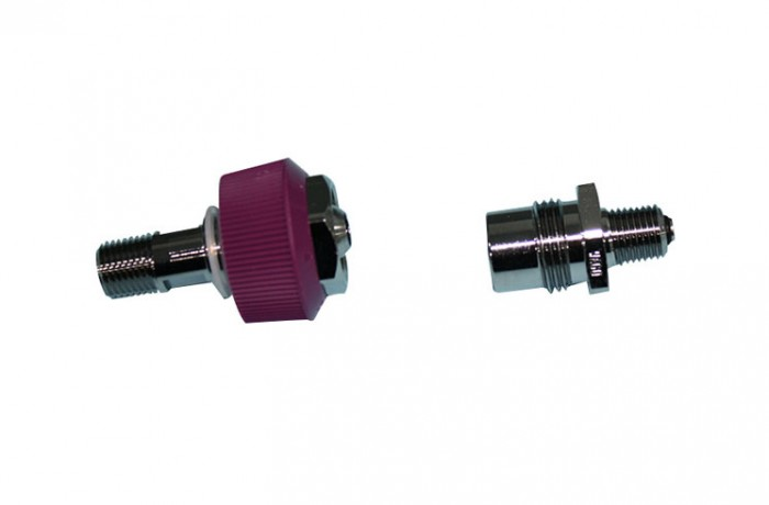 EVAC Hand Wheel with 1/8 NPT fitting EVAC Male fitting with 1/8 NPT connector
